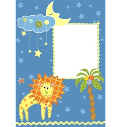 Baby frame or card vector