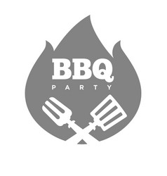 Barbecue or grill party fire flame icon vector