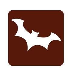 bat bird halloween card vector image