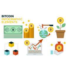 Bitcoin infographic elements vector