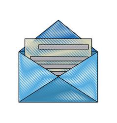 Blue email envelope communication note notice vector