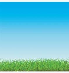 Blue sky with green field vector