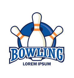 bowling logo with text space for your slogan vector image