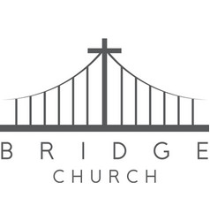 Bridge church religious concept design template vector