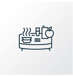 Buffet icon line symbol premium quality isolated vector