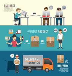 Business design e-shopping concept people set vector image