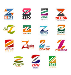 Business design letter z icons vector