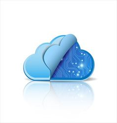 Cloud computing with electronic circuit vector image