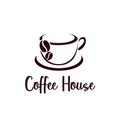 coffee cup logo design cafe icon symbol vector image