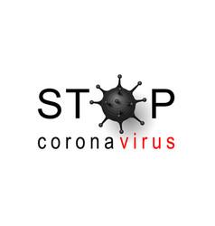Coronavirus 2019-ncov corona virus 3d icon black vector