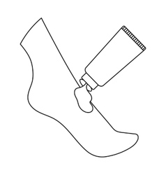 Cream for feet icon in outline style isolated on vector