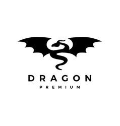 dragon wing logo icon vector image