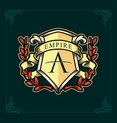 empire brand logo kingdom and ribbon vector image