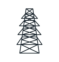 energy tower structure vector image