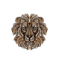 ethnic lion vector image