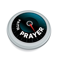 Faith and prayer meter concept vector