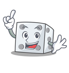 Finger dice character cartoon style vector