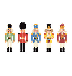 funny figurines soldiers various historical vector image