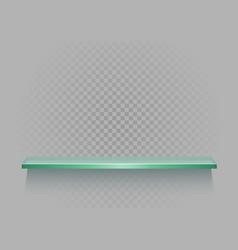 glass shelf on gray transparent background vector image