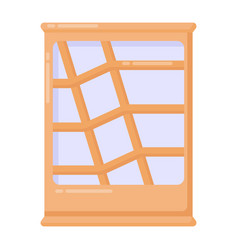 Glass showcase vector