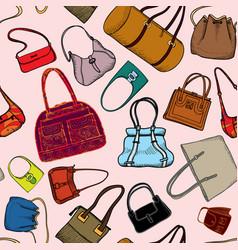 handbags seamless pattern fashion bag accessory vector image