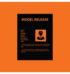 Icon of model release document vector