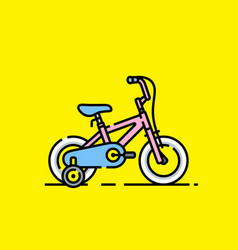 kids bicycle icon vector image