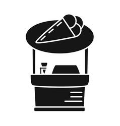 Kiosk and cart logo vector