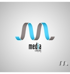 M logoMedia logo template vector image