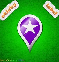 Map pointer award GPS location icon sign Symbol vector