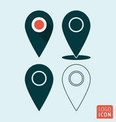 map pointer icon pin location symbol set vector image