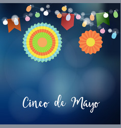 Mexican cinco de mayo greeting card invitation vector