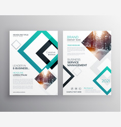 modern business flyer brochure design concept vector image