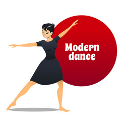 modern dance in cartoon style vector image