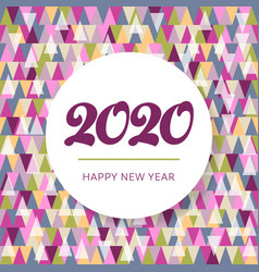 mosaic happy new year 2020 website banner vector image