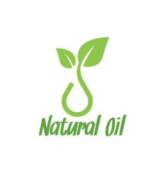 natural oil logo design inspiration vector image