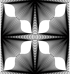 Ornate monochrome abstract background with black vector image
