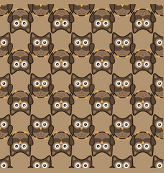 owl stylized art seamless pattern nature colors vector image