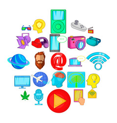 patent icons set cartoon style vector image