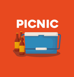 picnic cooler icon vector image