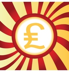 Pound sterling abstract icon vector