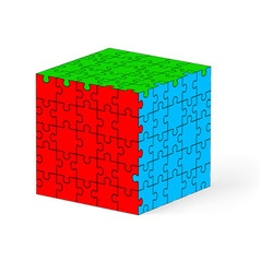 Puzzle kube 01 vector