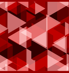 Red geometry abstract seamless pattern vector