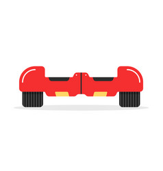 Red hoverboard icon with shadow vector