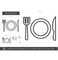 Restaurant line icon vector