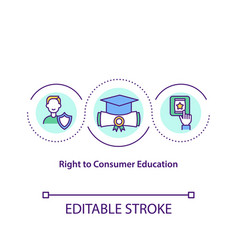 right to consumer education concept icon vector image