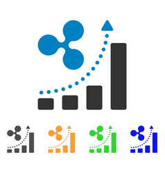 ripple grow up chart icon vector image