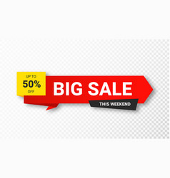 sale sticker or tag sale discount and special vector image
