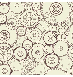 seamless mechanical background vector image
