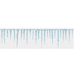 set translucent icicles vector image
